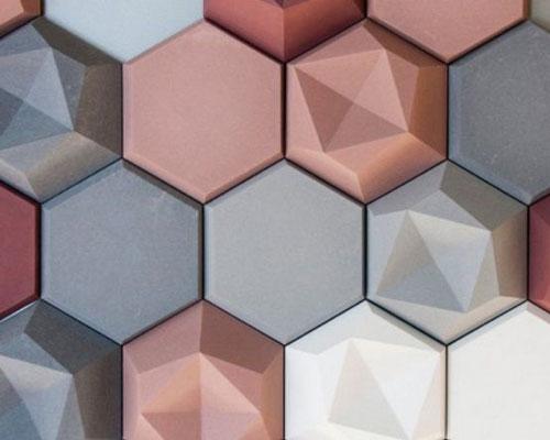 Гипсовая 3D панель «Сотинки» в интерьере