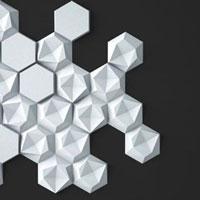 Гипсовые 3D панели мозаичные (сборные)