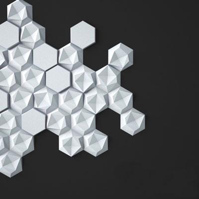 Гипсовая 3D панель «Сотинки»