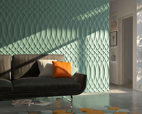 Гипсовая 3D панель «Дворец» в интерьере