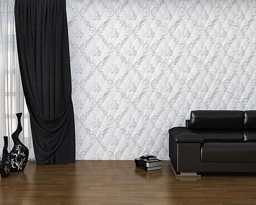 Гипсовая 3D панель «Роскошь» в интерьере