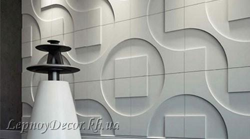 Гипсовая 3D панель «Техно» в интерьере