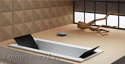 Гипсовая 3D панель «Гиза» в интерьере