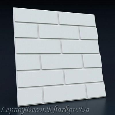 Гипсовая 3D панель «Кирпичная кладка»