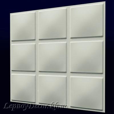 Гипсовая 3D панель «Кубики»