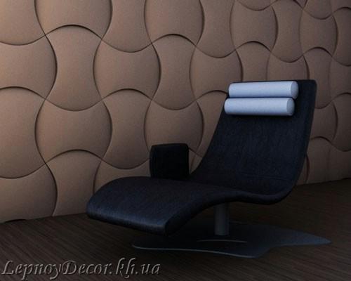 Гипсовая 3D панель «Монтана» в интерьере
