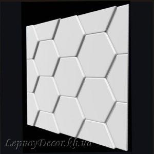 Гипсовая 3D панель «Черепица»