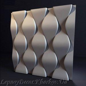 Гипсовая 3D панель «Чешуя»