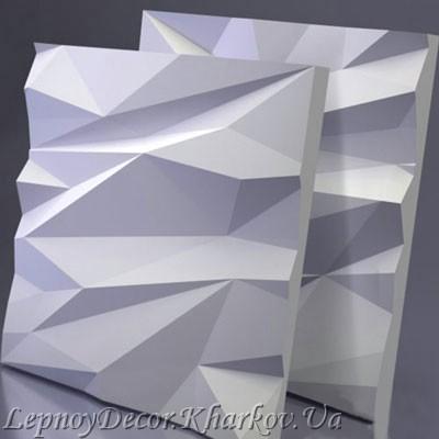 Гипсовая 3D панель «Айс»