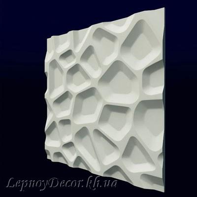 Гипсовая 3D панель «Впадины»