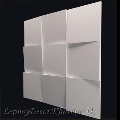 Гипсовая 3D панель «Квадраты»