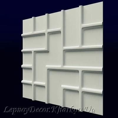 Гипсовая 3D панель «Тетрис»