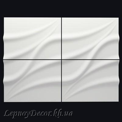 Гипсовая 3D панель «Лотос»