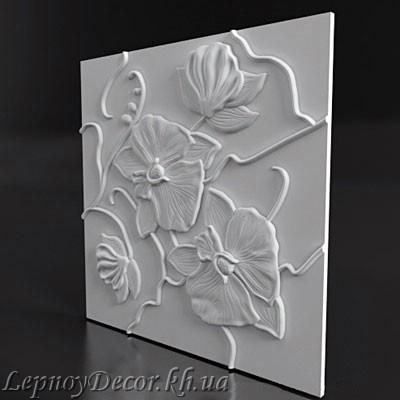 Гипсовая 3D панель «Орхидея»
