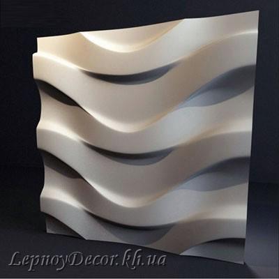 Гипсовая 3D панель «Поток»