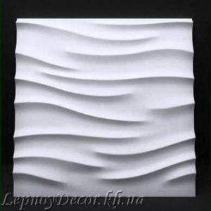 Гипсовая 3D панель «Волнушки»