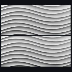 Гипсовая 3D панель «Мягкий бриз»