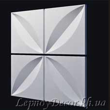 Гипсовая 3D панель «Лепесток»