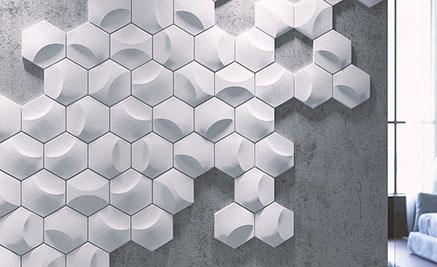 Серия гипсовых 3D панелей «Соты»