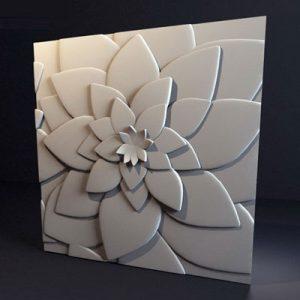 Гипсовая 3D панель «Цветок лотоса»
