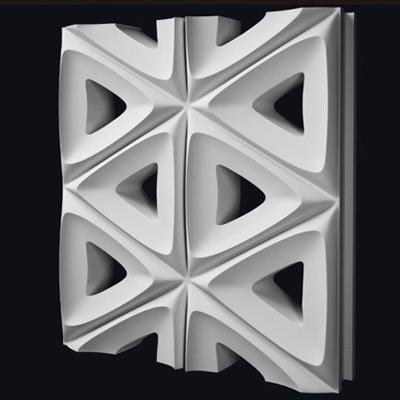 Гипсовая 3D перегородка «Лотос»