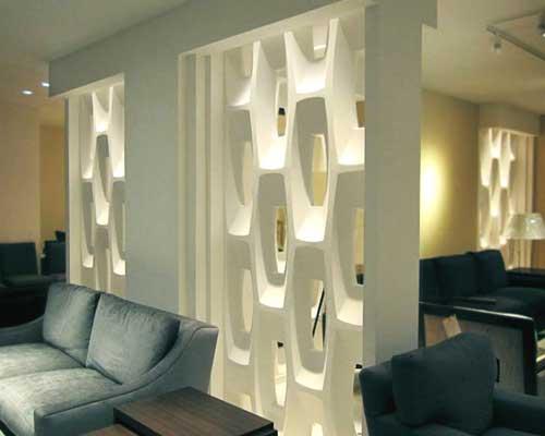 Гипсовая 3D перегородка «Урбан» в интерьере