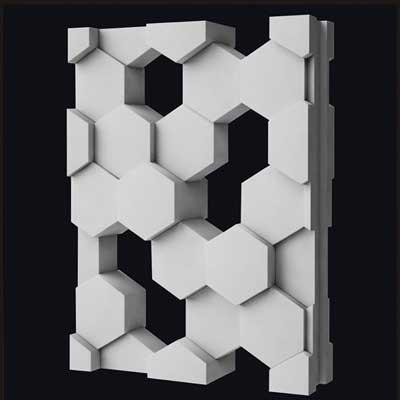 Гипсовая 3D переГипсовая 3D перегородка «Соты»