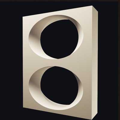 Гипсовая 3D перегородка «Круги»