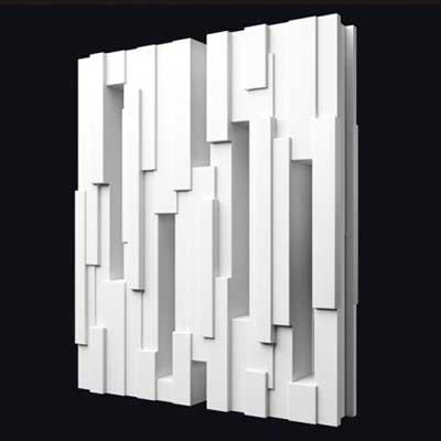 Гипсовая 3D перегородка «Корзина 2» в интерьере