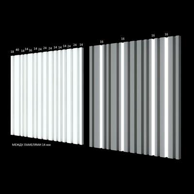 Гипсовая 3D панель «Баркод»