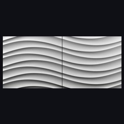 Гипсовая 3D панель «Бриз 2»