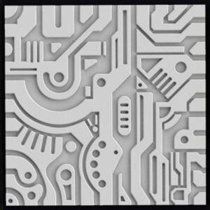 Гипсовая 3D панель «Стимпанк»