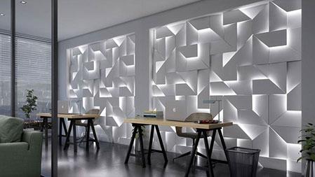 Гипсовая LED-панель «Квест» в интерьере