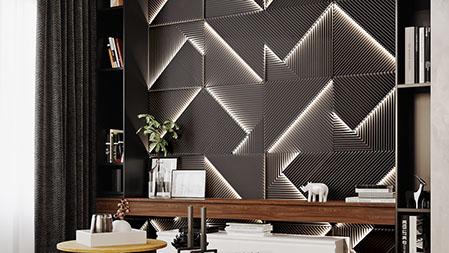 Гипсовая LED-панель «Топ-лайн» в интерьере